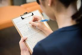 1.問診表の記入